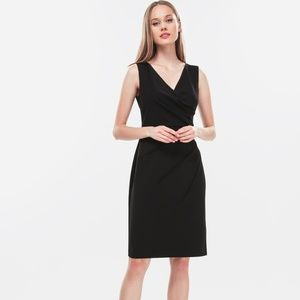DKNY  Womens Black Ruched Sheath Dress